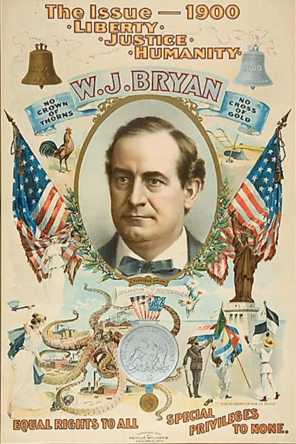 William Jennings Bryan campaign poster, 1900
