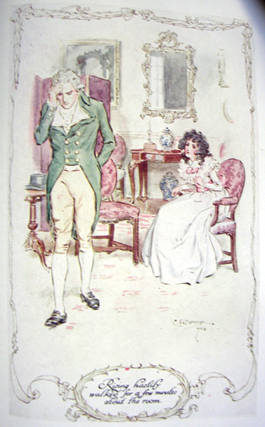 Elinor Dashwood and Colonel Brandon in Jane Austen's Sense and Sensibility