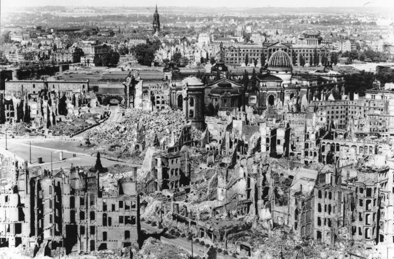 Dresden after firebombing, 1945