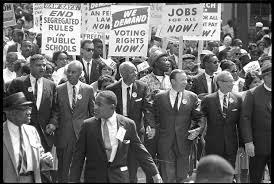 Civil rights leaders marching in Washington, D.C.