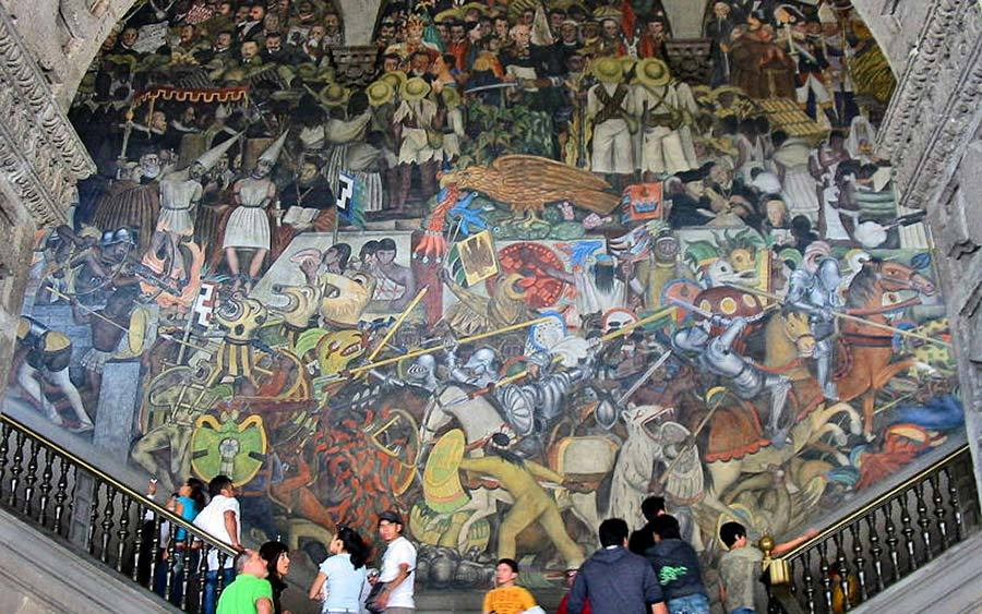 "Diego Rivera, ""The History of Mexico"""