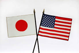 Japanese and American flags