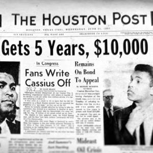 Front-page news on Muhammad Ali