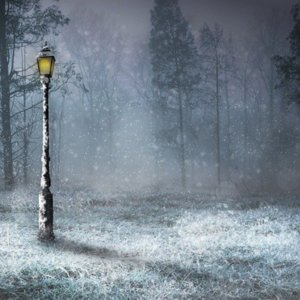 Winter Lamppost Scene