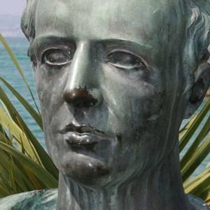 A modern statue of the Roman poet Gaius Valerius Catullus
