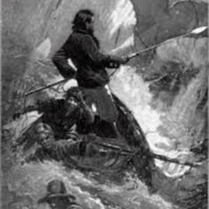 Illustration of final chase scene in Herman Melville'sMoby-Dick