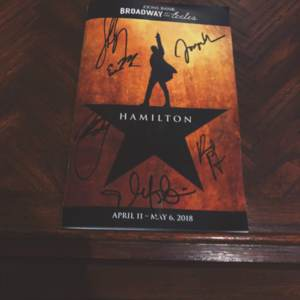 The contributor's playbill of Hamilton