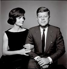 Jackie O. and John F. Kennedy engagement photo by Richard Avedon