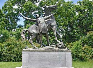 Confederate General Lloyd Tilghman Monument - Vicksburg National Military Park, Mississippi