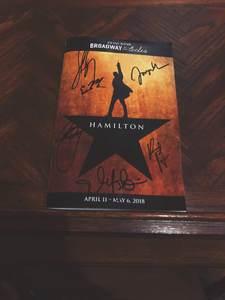 The contributor's playbill of Hamilton