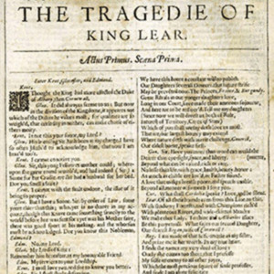 """""""The Tragedie of King Lear,"""" William Shakespeare"""