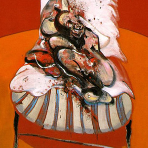 """Francis Bacon, """"Study for Figure at the Base of a Crucifixion"""""""