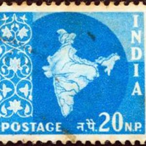 Vintage stamp from India